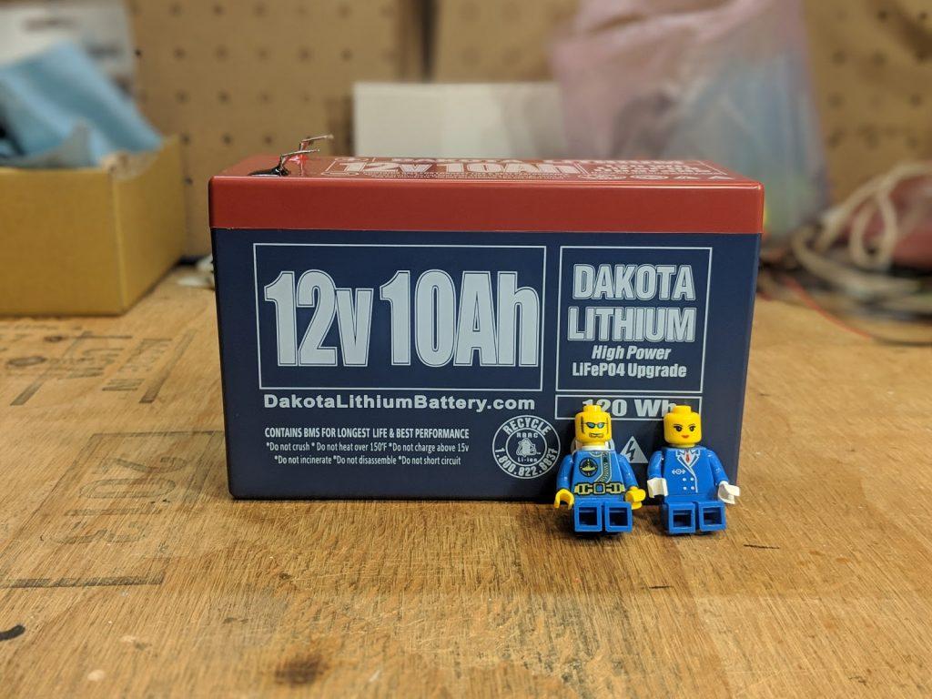 12V 10Ah Dakota Lithium Battery Storage
