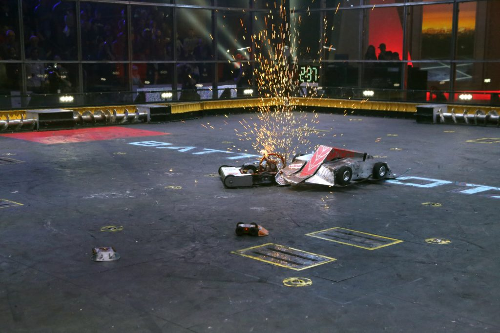 WAR Hawk in competition at BattleBots